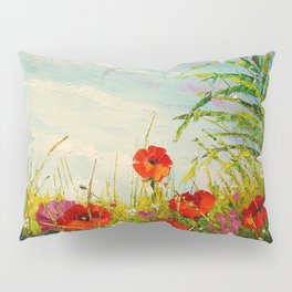 Field in poppies and cornflowers Pillow Sham