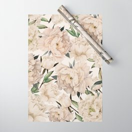 Peonies Pattern Wrapping Paper