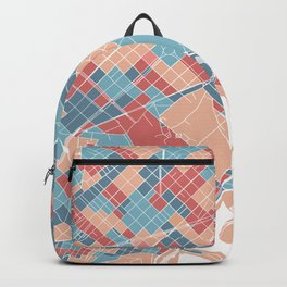 Colorful Barcelona map Backpack