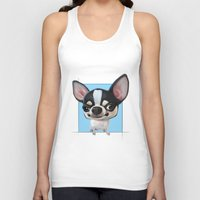 chihuahua Tank Tops featuring Chihuahua by joearc