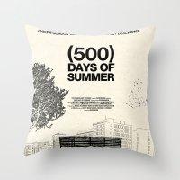 500 days of summer Throw Pillows featuring (500) Days of Summer by Martin Lucas