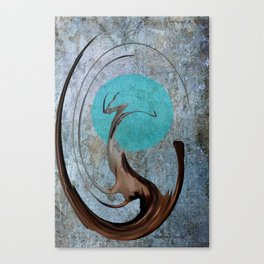 Turquoise Moon Canvas Print