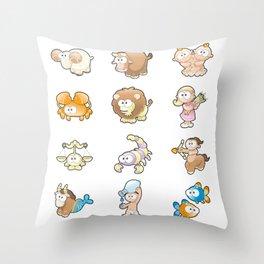 Funny Zodiac. Throw Pillow