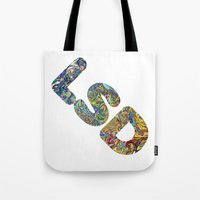 lsd Tote Bags featuring Simply LSD by Teo Sharkson