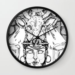 ethnicgirl Wall Clock