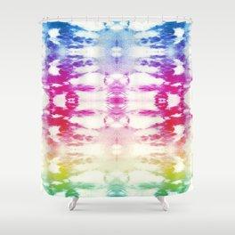 Tie Dye Rainbow Shower Curtain