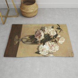 Henri Fantin-Latour - Pink Roses Rug