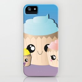 Happy Family Cupcakes iPhone Case