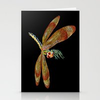 dragonfly Stationery Cards featuring Dragonfly by Tim Jeffs Art