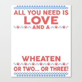 Wheaten Ugly Christmas Sweater Canvas Print