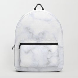 Classic Grey and White Natural Stone Veining Quartz Backpack
