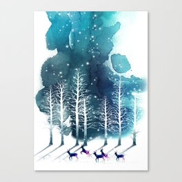 Winter Night 2 Canvas Print
