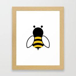 bee logo Framed Art Print