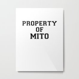 Property of MITO Metal Print