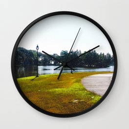 The Lakeshore from home Wall Clock
