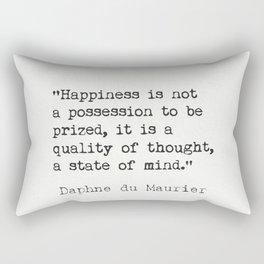 Daphne du Maurier quote Rectangular Pillow