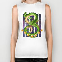 dragon ball Biker Tanks featuring Dragon by TxzDesign