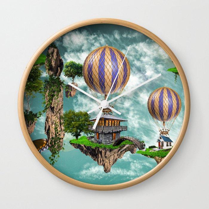 Balloon House Wall Clock