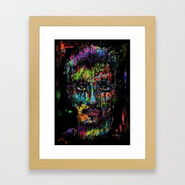 At The Edge Of The Abyss. Framed Art Print