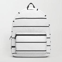 SKINNY STRIPE ((black on white)) Backpack