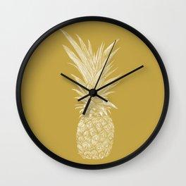 Pineapple : La Moutarde Wall Clock