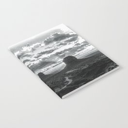 Southwest Wanderlust - Monument Valley Sunrise Black and White Notebook