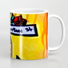 Bourbon St. Music post Coffee Mug