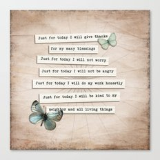 Reiki Principles No.2 Canvas Print