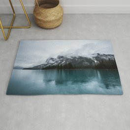 Smokey Mountains Landscape Photography Alberta Rug