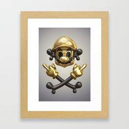 Undead Icons. Mario Framed Art Print