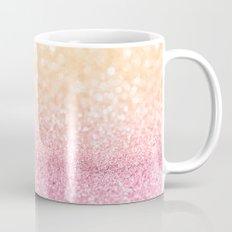 Pink and Orange Glitter Mug