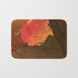 When The Red Moon Appears Bath Mat