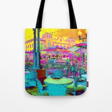 Through Rose Colored Glasses -Neon My Town Tote Bag