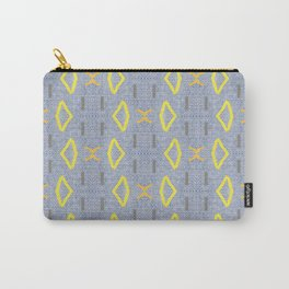 Yellow orange tribal art Carry-All Pouch