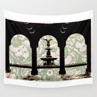 central park Wall Tapestries featuring Central Park Lace by Maria Carney