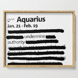 Aquarius 1 Serving Tray