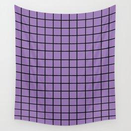 Pastel Grid PurPur Wall Tapestry