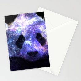 Galaxy Panda Space Colorful Stationery Cards