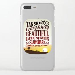 Tan Skin beautiful late nights summer   gift cool present summer vibes 2020 tan skin late nights Clear iPhone Case