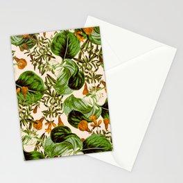 Orange Floral Botanic Stationery Cards