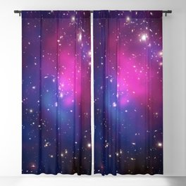 Dark Matter and Galaxies in a Cluster Blackout Curtain