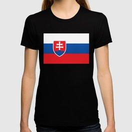 Flag of Slovakia, High Quality Image T-shirt