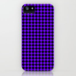 Black and Indigo Violet Diamonds iPhone Case
