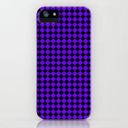 Black and Indigo Violet Diamonds iPhone Case
