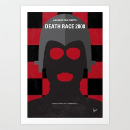 No367 My Death Race 2000 minimal movie poster Art Print