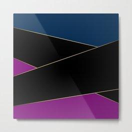 Angelica . Blue , black  , purple Metal Print