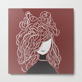 Iconia Girls - Olivia Marsala Metal Print