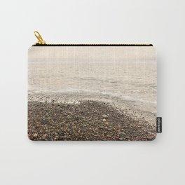 Dungeness Shoreline, Pebble Beach, Washington Seascape, Juan de Fuca, Coastal Photography Carry-All Pouch