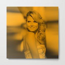 Heidi Klum - Celebrity Metal Print