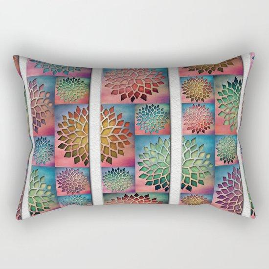 Abstract Petals Decoration Rectangular Pillow